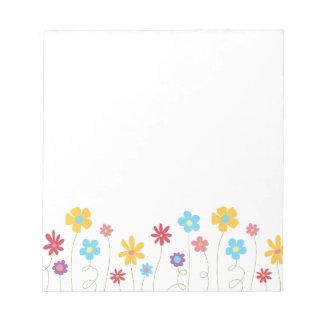 Bloco De Notas Flores Funky do primavera