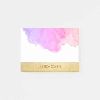 Bloco De Notas Folha de ouro cor-de-rosa roxa personalizada do