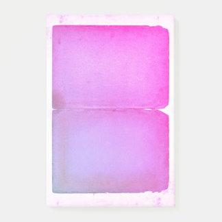 Bloco De Notas Folhas roxas cor-de-rosa da aguarela