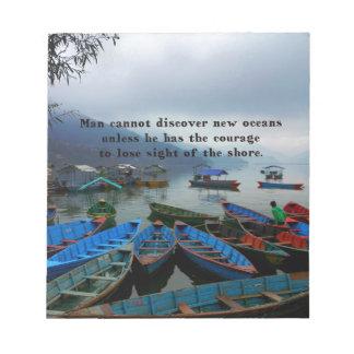 Bloco De Notas Foto inspirada do barco da DESCOBERTA das citações