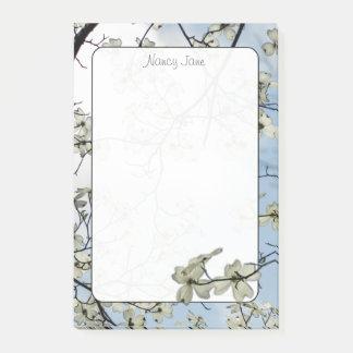 Bloco De Notas Fotografia floral do céu azul do Dogwood do