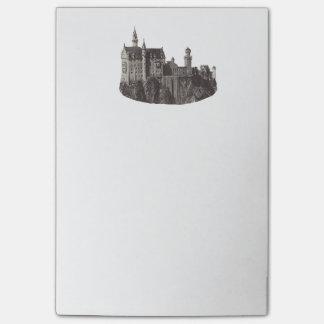 Bloco De Notas Fotografia preto e branco de Neuschwanstein do
