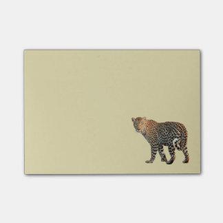 Bloco De Notas Fotografia selvagem manchada do gato do leopardo