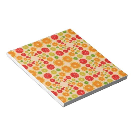 Bloco de notas Frutas Cítricas