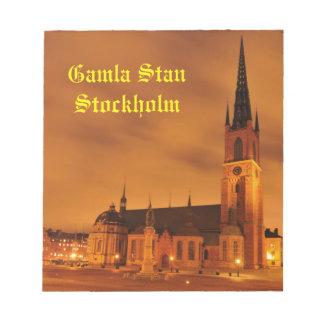 Bloco De Notas Gamla Stan em Éstocolmo, suecia