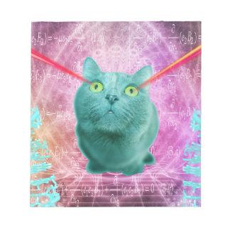 Bloco De Notas Gato com olhos do laser