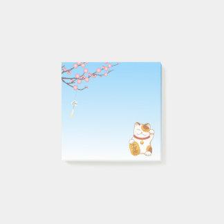 Bloco De Notas Gato de chita afortunado japonês, Maneki Neko