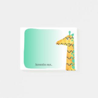 Bloco De Notas Girafa escandinavo colorido do estilo