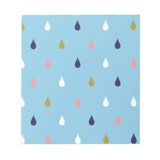 Bloco De Notas Gotas felizes da chuva