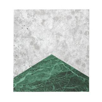 Bloco De Notas Granito concreto #412 do verde da seta