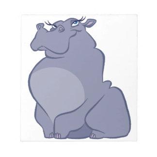 Bloco De Notas Hipopótamo para o Natal
