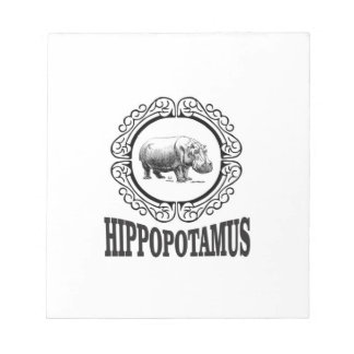 Bloco De Notas Hipopótamo quadro