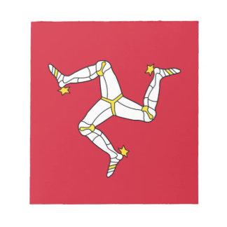 Bloco De Notas Ilha da bandeira do homem - bandeira Manx -