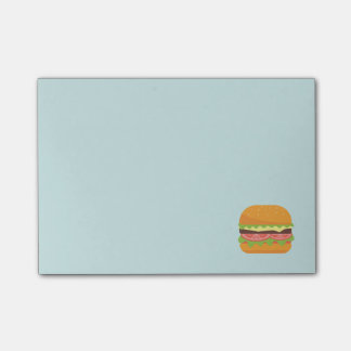 Bloco De Notas Ilustração do Hamburger com tomate e alface