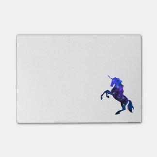 Bloco De Notas Imagem sparkly do unicórnio bonito azul da galáxia