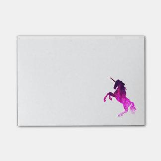 Bloco De Notas Imagem sparkly do unicórnio bonito cor-de-rosa da