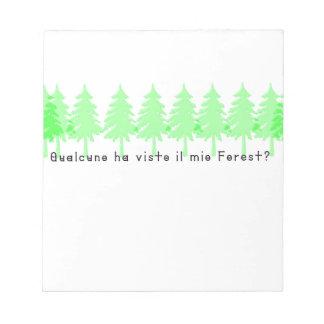 Bloco De Notas Italiano-Forrest
