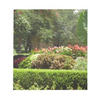 Bloco De Notas jardim bonito