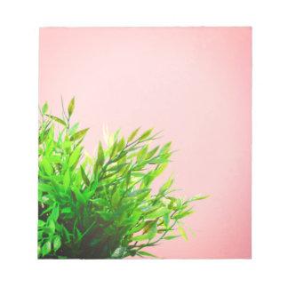 Bloco De Notas Jardinagem da natureza da planta da casa
