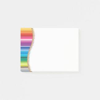 Bloco De Notas Lápis Cargo--Nota-Coloridos