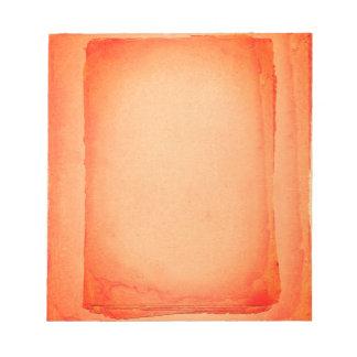 Bloco De Notas Laranja vermelha impressão de tela pintado
