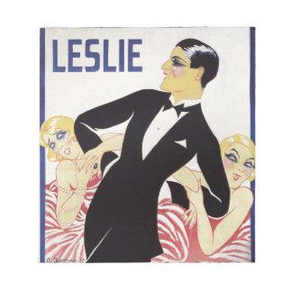 Bloco De Notas Leslie!
