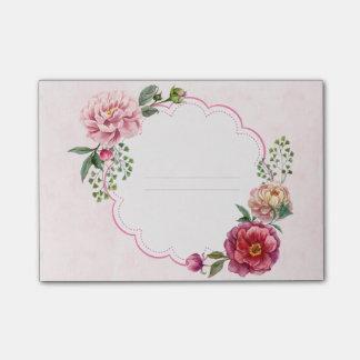 Bloco De Notas Linhas florais da nota do quadro da aguarela