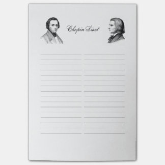 Bloco De Notas Lista de compra de Chopin Liszt