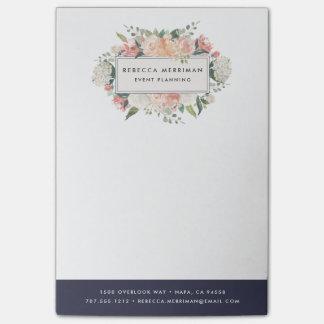 Bloco De Notas Listra azul | da meia-noite floral antiga