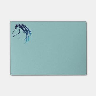 Bloco De Notas Logotipo clássico da cabeça de cavalo no azul