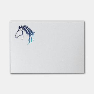 Bloco De Notas logotipo lassic da cabeça de cavalo no azul