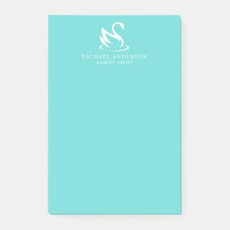 Bloco De Notas Logotipo minimalista azul da cisne do ovo do pisco