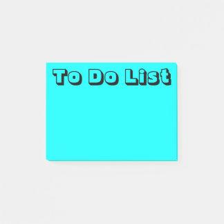 Bloco De Notas Luz - | azul para fazer a lista