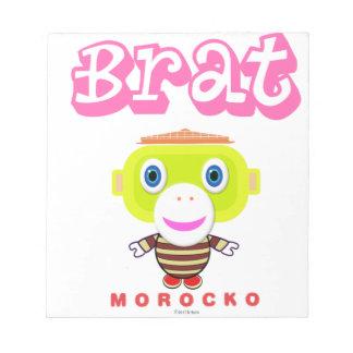 Bloco De Notas Macaco-Morocko Pirralho-Bonito