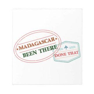 Bloco De Notas Madagascar feito lá isso