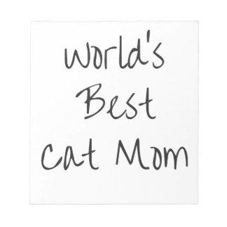 Bloco De Notas Mamã do gato do mundo a melhor - preto