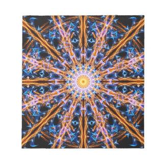 Bloco De Notas Mandala da estrela da alquimia