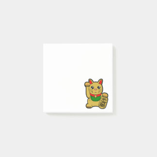 Bloco De Notas Maneki Neko: Gato afortunado dourado