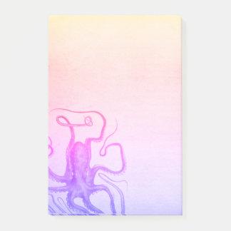 Bloco De Notas Mar roxo cor-de-rosa de Ombre Steampunk do polvo