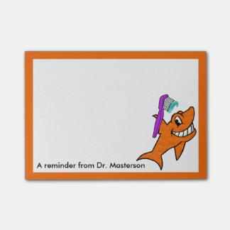 Bloco De Notas Memorando amigável do tubarão do dentista