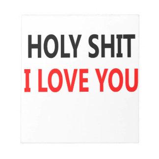 Bloco De Notas Merda santamente eu te amo (1)
