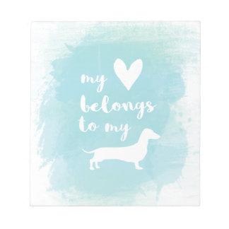 Bloco De Notas Meu coração pertence a meu watercolo da caligrafia