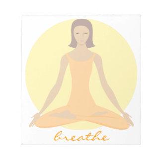 Bloco De Notas Mulher Meditating