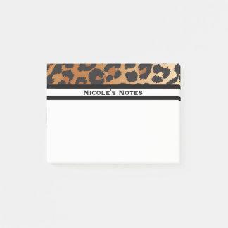 Bloco De Notas Na moda animal do impressão da chita do leopardo