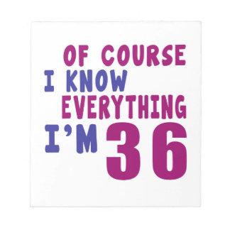 Bloco De Notas Naturalmente eu sei que tudo eu sou 36