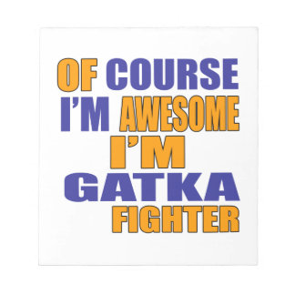 Bloco De Notas Naturalmente eu sou lutador de Gatka
