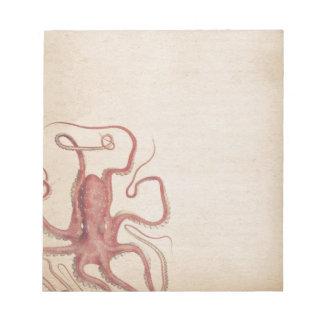 Bloco De Notas Natureza silenciado do polvo de Steampunk do rosa