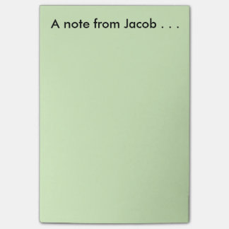 Bloco De Notas Nota de Jacob