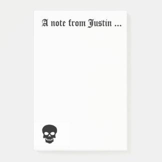 Bloco De Notas Nota de Justin