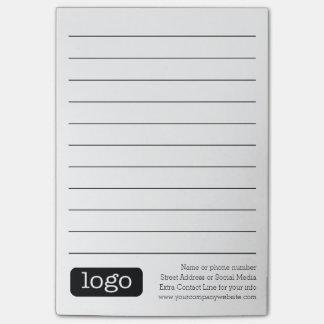 Bloco De Notas Notas básicas do logotipo do escritório ou do